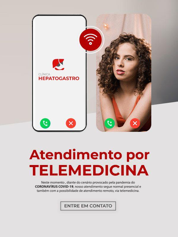 Banner Telemedicina mobile | Clínica Hepatogastro